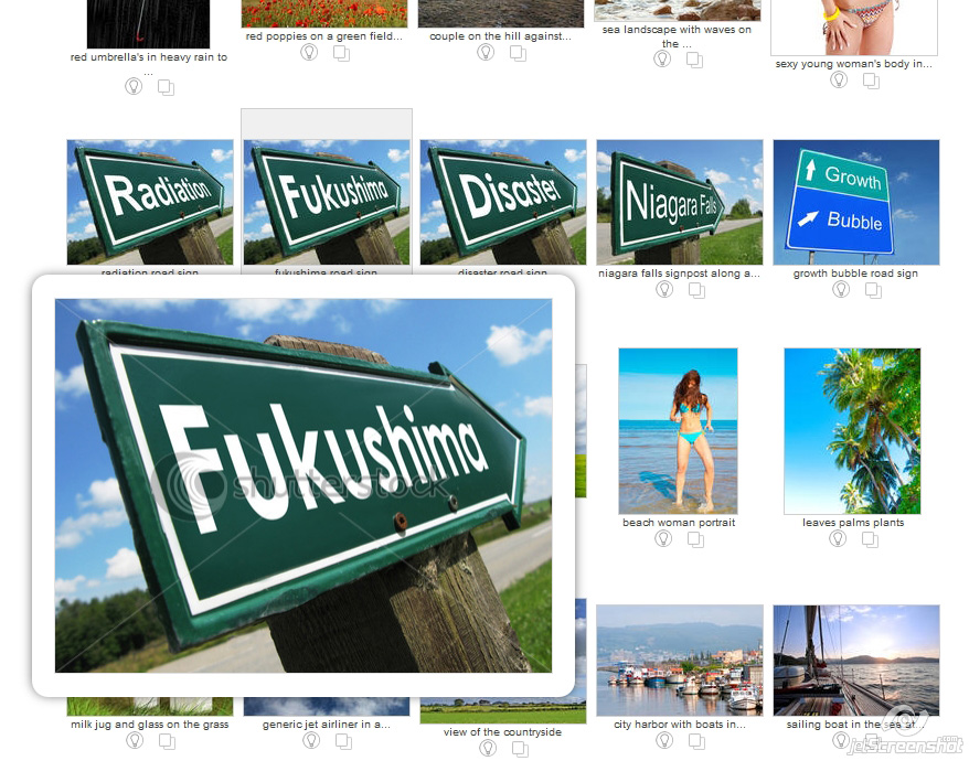 Shutterstock search Japan Fukushima