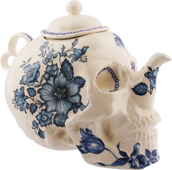 Расписной чайник для чая в виде черепа