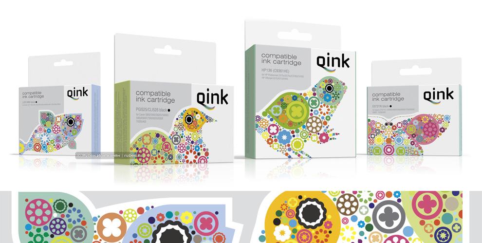 Разработка упаковки для совместимых картриджей бренда QINK