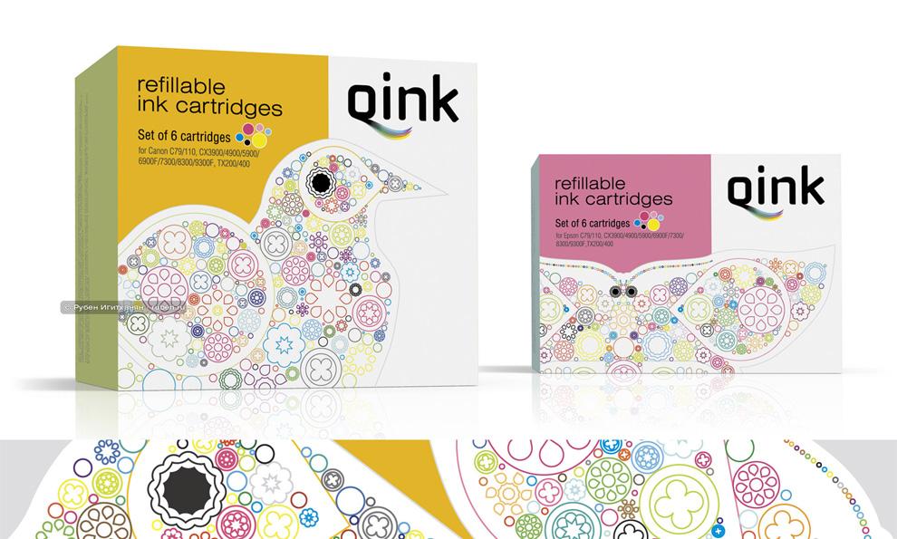 Pack for Qink refill cartriges / Упаковка для перезаполняемых картриджей Qink